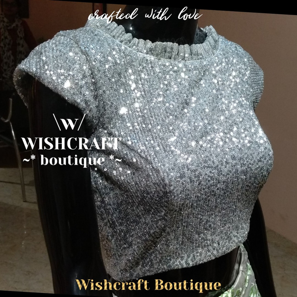 183 silver sequins blouse - wishcraft bo
