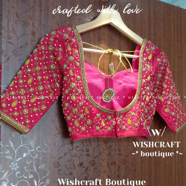 Designer Bridal Saree Blouse with Beautiful Handwork - Blouse Design 205