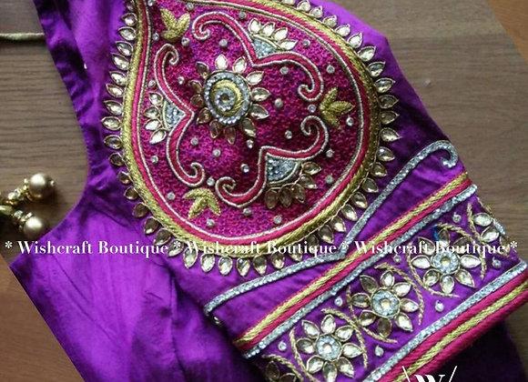 Indian Festive Wear Designer Saree Blouse. Latest Blouse Design 324
