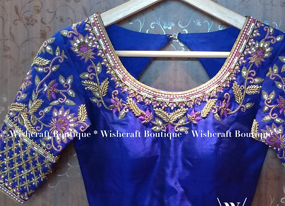 Beautiful Bridal Saree Blouse with Maggam Work - 206