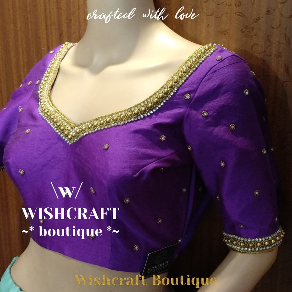 181 Designer blouse with beads work - b.