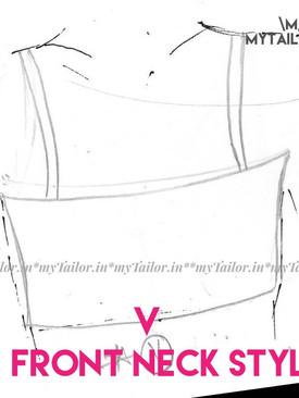 Blouse -front neck style V - mytailor.in