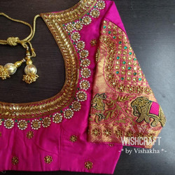 323 Bridal blouse with beautiful handwor