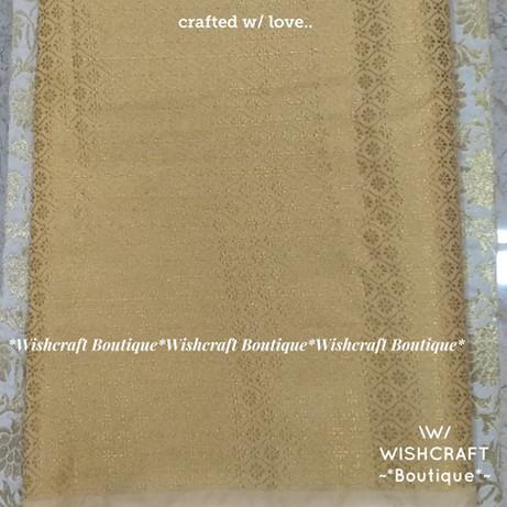 Golden Brocade Fabric 3 - wishcraft bout
