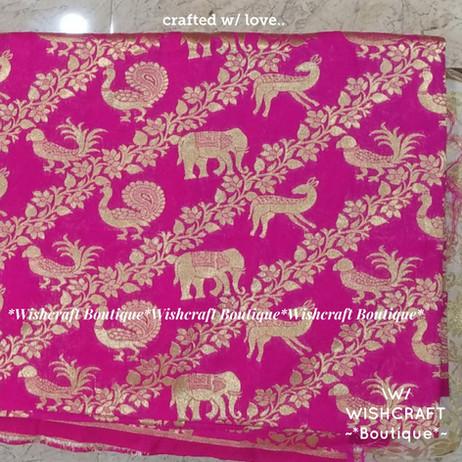 pink designer fabric - blouse materials