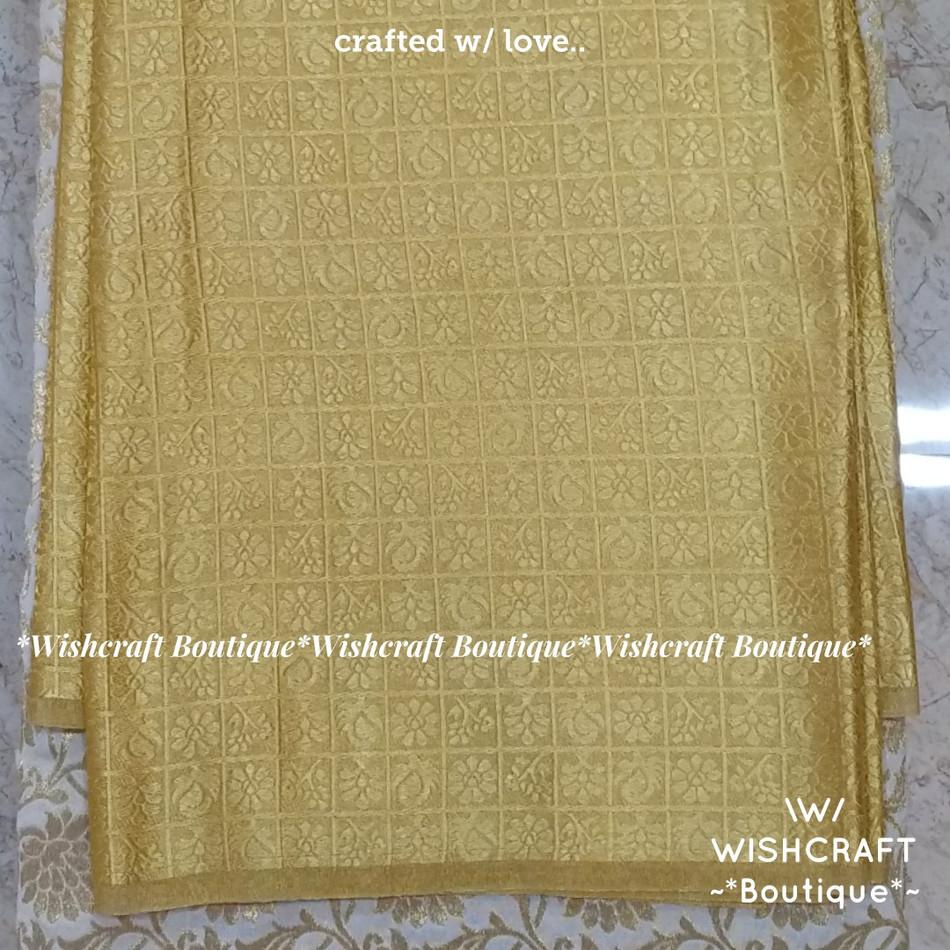 Golden Brocade Fabric 2 - wishcraft bout