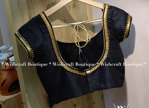 Simple Black Saree Blouse. Indian Blouse 306