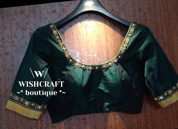Designer Blouse with simple handwork. Partywear Blouse #326