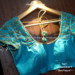 designer-saree-blouse-sea-green-color-33