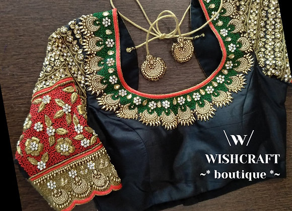 Heavy Maggam Work Blouse. Indian Saree Blouse Design 202