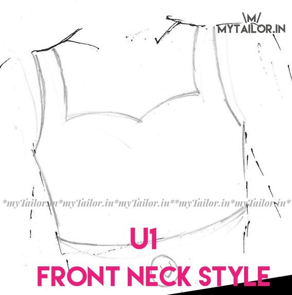Front Neck Style U