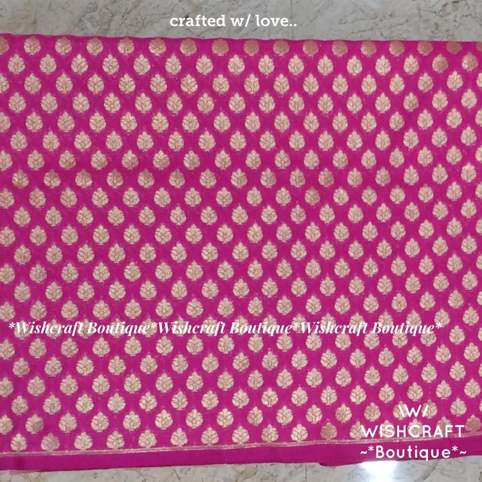 pink banaras fabric 2 - blouse materials