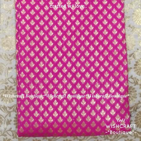 Pink banaras fabric - blouse materials o