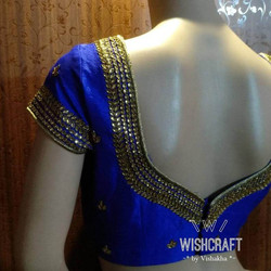 328 beautiful designer kundan saree blou