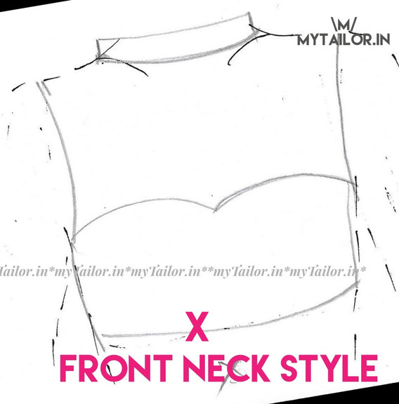 Front Neck Style X