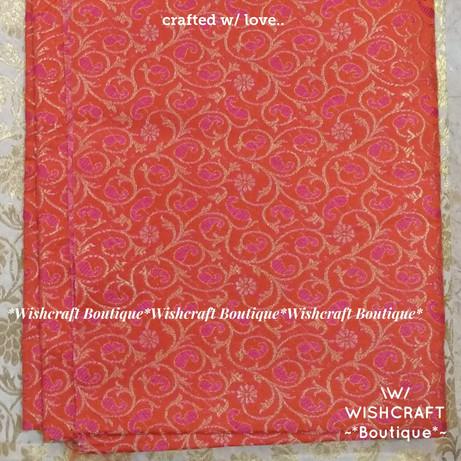 brocade fabric with orange base - blouse