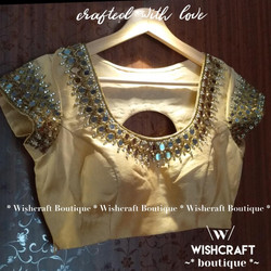 golden-blouse-with-mirror-work-design-23