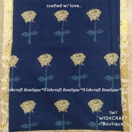 Cotton Print fabric - blue - wishcraft b