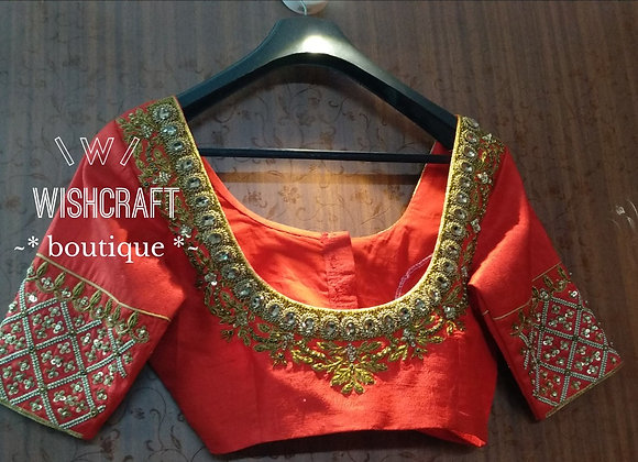 Heavy Maggam work blouse. Saree Blouse Design 188