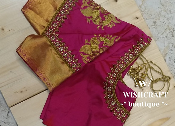 Designer Saree Blouse with Maggam Work - Indian Blouse