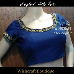 blue blouse with maggam work - saree blo