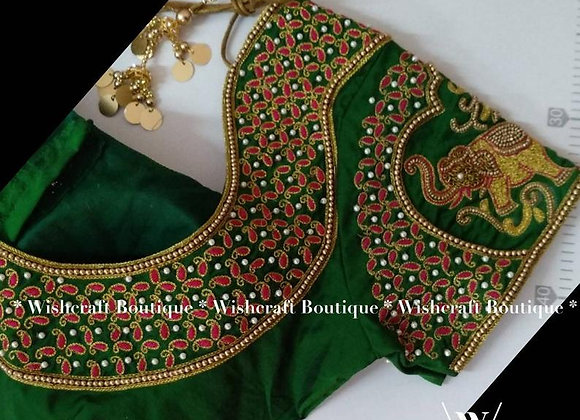 Designer Bridal Saree Blouse with Beautiful Handwork - Blouse Design 309