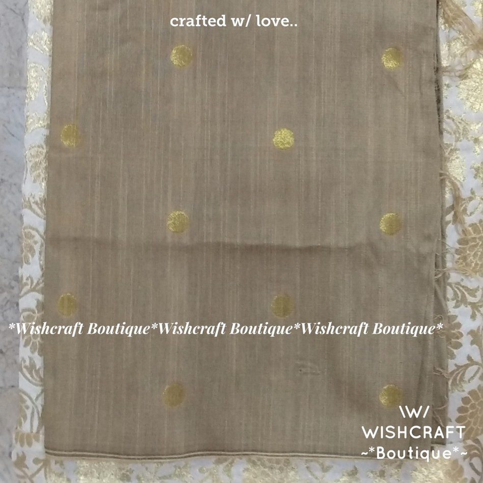 Golden rawsilk print - fancy blouse mate