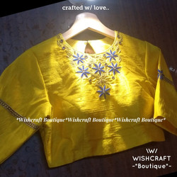 yellow-designer-blouse-high-neck-design-