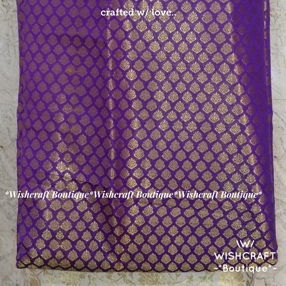 purple banaras fabric - blouse materials
