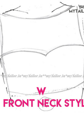 Blouse -front neck style W - mytailor.in