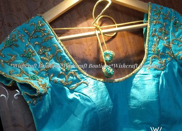 Designer Saree Blouse with beautiful maggam work - #336