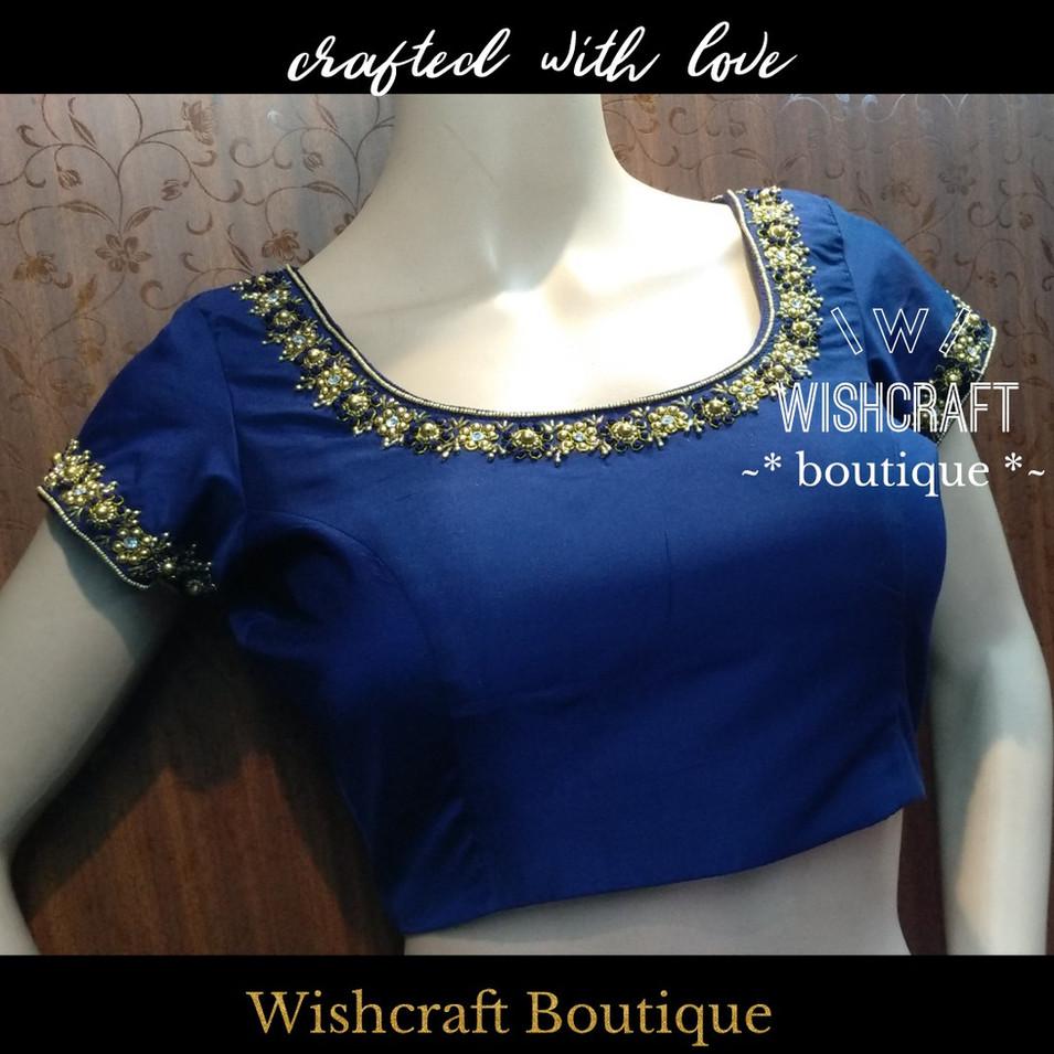193 beautiful beads work blouse - wishcr
