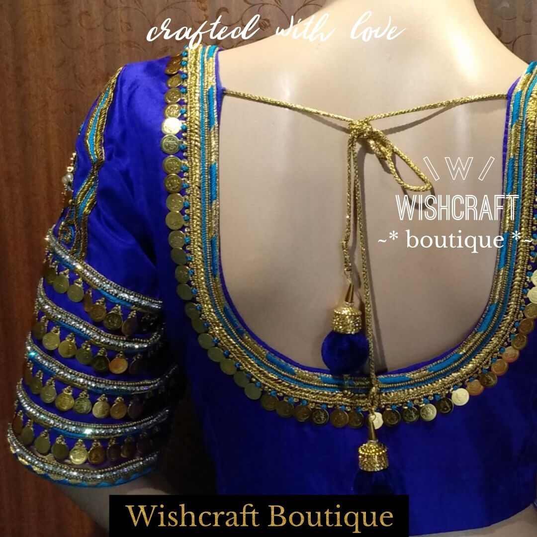 bridal blouse - kasu work blouse - saree