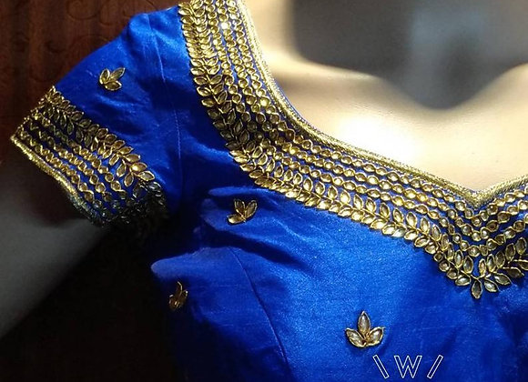 Beautiful kundan work blouse - wishcraft boutique #328
