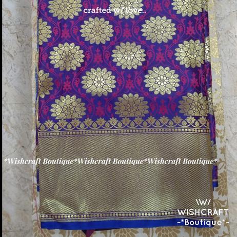 golden banaras fabric - blouse material