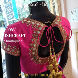 Pink Saree Blouse - blouse design 169 B.