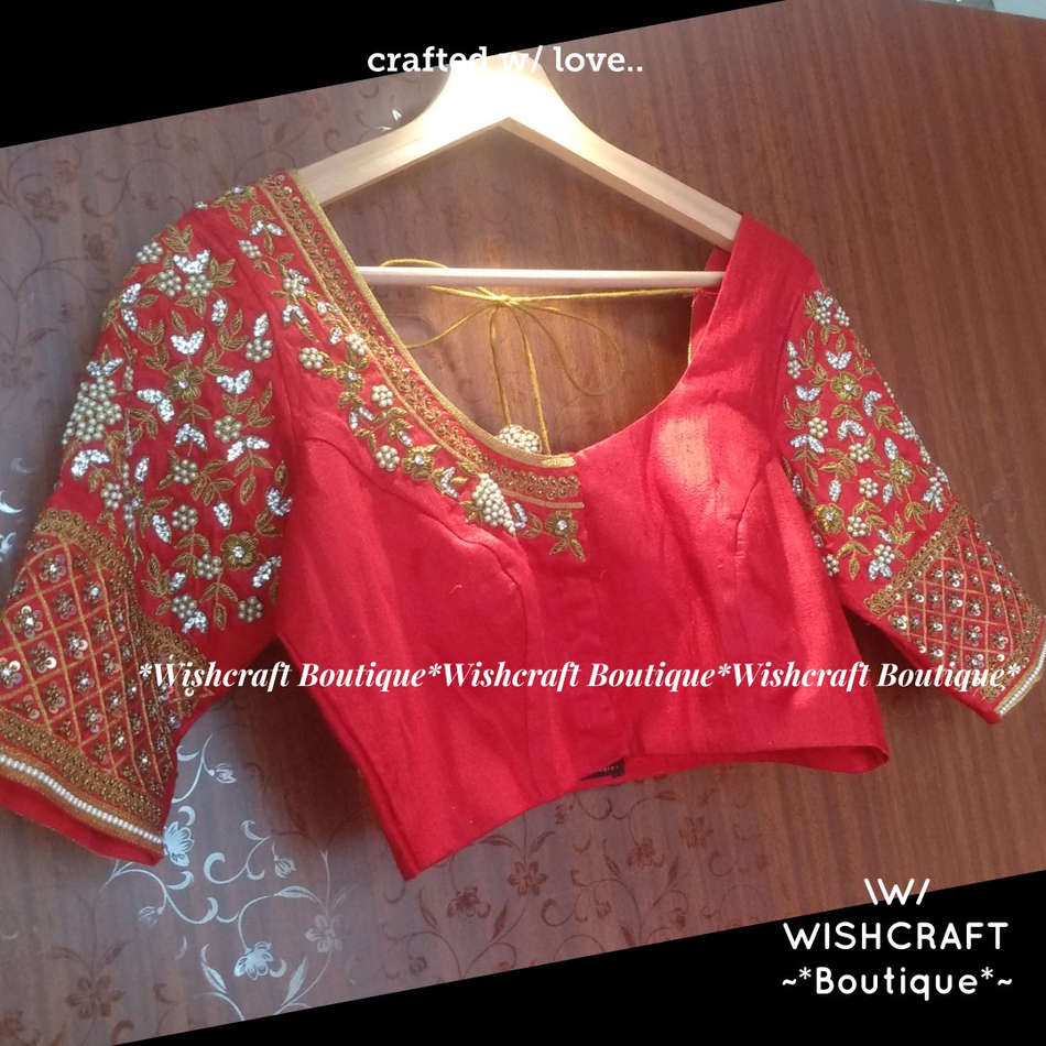 Beautifully Handcrafted Bridal Saree Blouse - 363