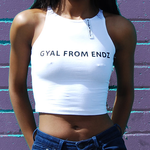 'Gyal From Endz' Crop Top