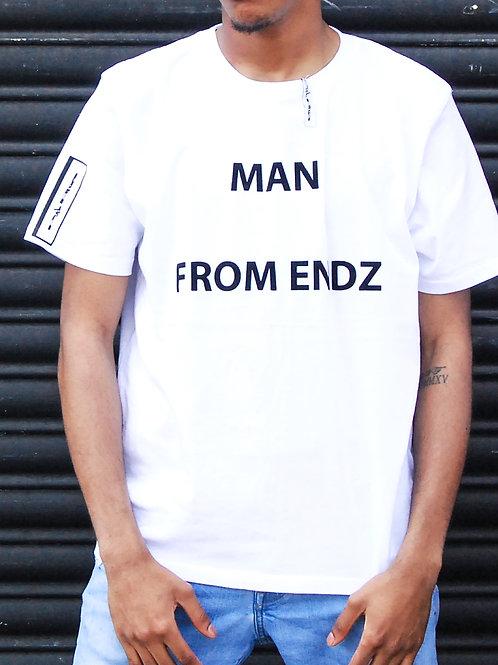 "Purplepeppa ""Man From Endz"" T Shirt White"
