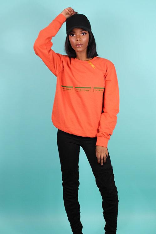 'Purplepeppa' Logo's In Line Orange Sweater