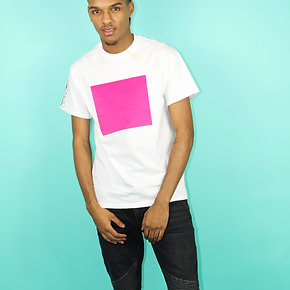 'Purplepeppa' White Tee with Pink Box