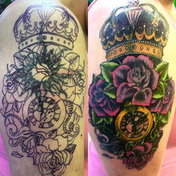 Cover up on Amber L.