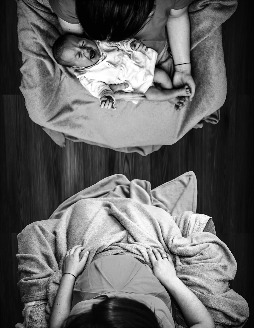 postpartum doula supports newborn family at home