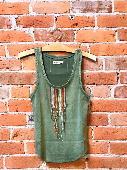 Free People Washed Olive Tank