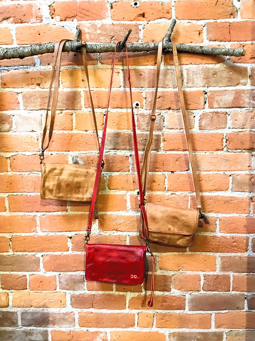 Distressed Leather Cross Body Bestu Purse