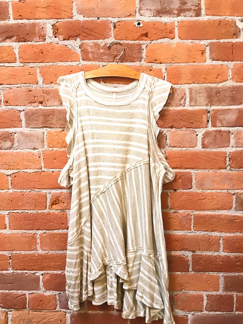 "Free People ""Tan Combo"" Top"