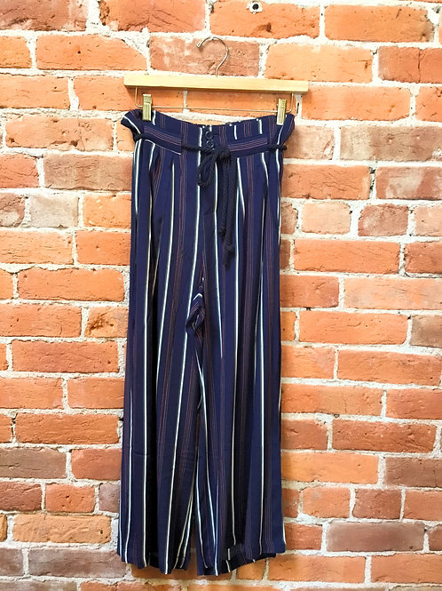 Wide LegNavy Stripped Pant