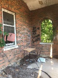 Abandoned Forest Haven Asylum Desk School