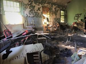 Abandoned Forest Haven Asylum Desks