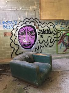 Abandoned Forest Haven Asylum Graffiti